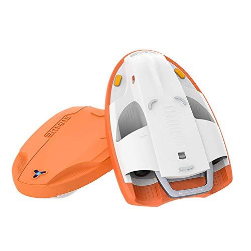 Schwimmen Kickboard Elektro Powered Kickboard Smart Water Scooter Schwimmen-Ausbildungshilfe for Wassersport 2 Schalter Geschwindigkeit, orange. WTZ012