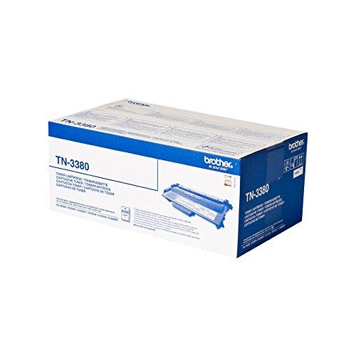 Brother TN-3380Tonerkassette für Laserdrucker, Schwarz, 8000Seiten, 290x132x81mm, Produktgewicht 717g, Paketgewicht 1,24kg