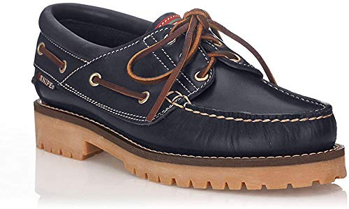 Snipe Zapato Náutico Negro para Hombre - Cuero Talla: 41