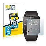 BROTECT Protector Pantalla Anti-Reflejos Compatible con Sony Smartwatch 2 (2 Unidades) Pelicula Mate Anti-Huellas
