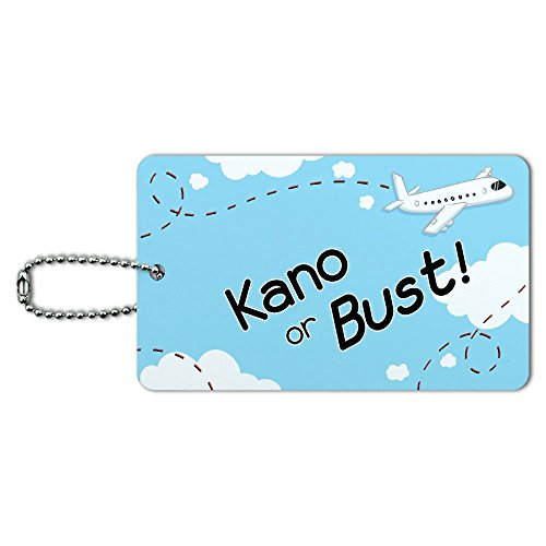 Kano or Bust - Flying Airplane ID Tag Luggage Card Suitcase Carry-On