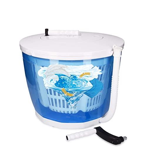 Michellda Mini Waschmaschine, 2 in1 Wäscheschleuder Waschautomat Reisewaschmaschine Tragbare Handwaschmaschine Kleinwaschmaschine für Camping Reisen im Freien