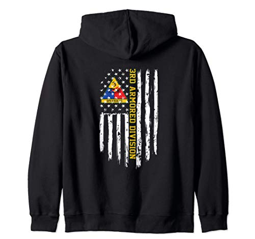 3rd Armored Division American Flag Zip Hoodie