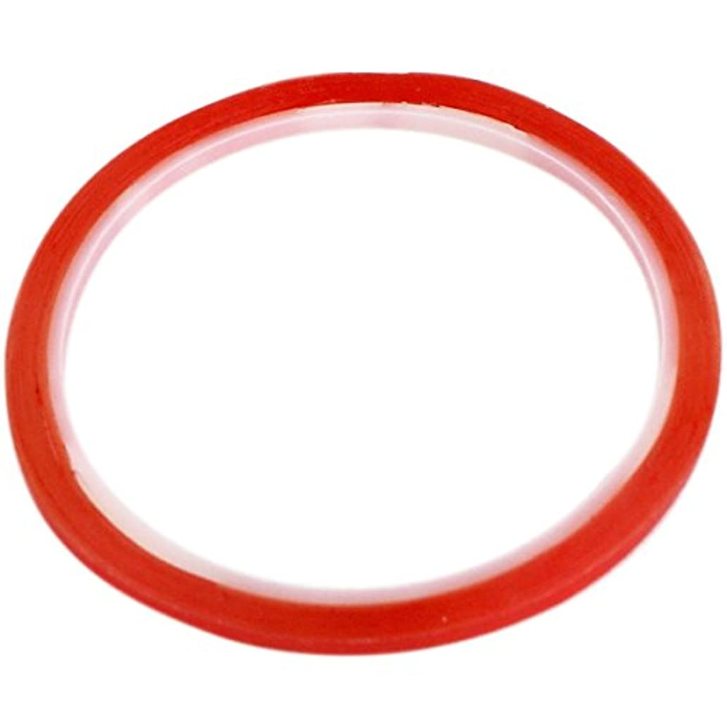 3mm Width Strong Permanent Red Double Sided Super Sticky Tape 5m Adhesive Roll