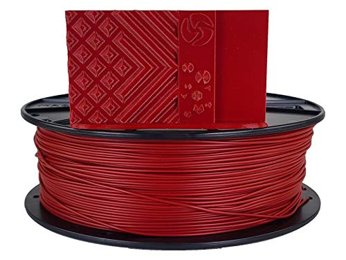 3D-Fuel 3D Filament Standard PLA Iron Red, 1.75mm, 1 kg +/- 0.02mm Tolerance, Made in USA