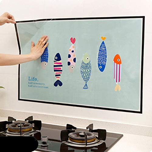 QWHUA Cartoon Anti-Olie Verontreiniging Keuken Huisdier Muurstickers Voor Kast Waterdichte Thuis Keuken Decoratie muurstickers