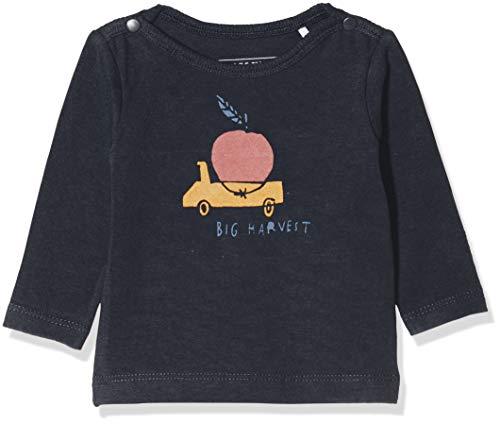 Imps & Elfs B Long Sleeve T-Shirt À Manches Longues, Bleu (Blue Graphite P334), 74 Bébé garçon
