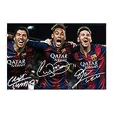 Lionel Messi Neymar Jr Luis Suarez Signiertes Foto