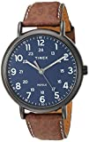 Timex Men's TW2T73200 Weekender 43mm Brown/Blue Two-Piece Leather Strap Watch