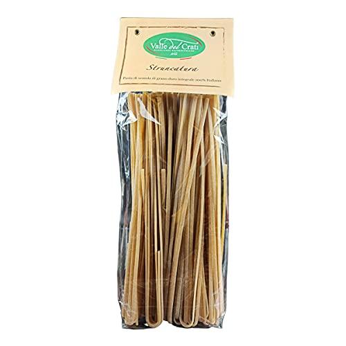Struncatura Calabrese, Pasta Lunga Tradizionale Artigianale , Stroncatura Pasta di Semola di Grano Duro Integrale 100% Italiano , 500 grammi