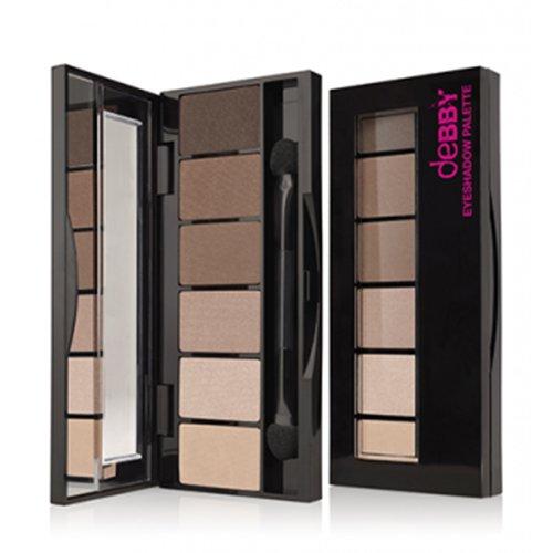 Debby On The Go Palette 03 Nude Beige Paris Ombretto Make-Up E Cosmetica Occhi, Multicolore, Unica