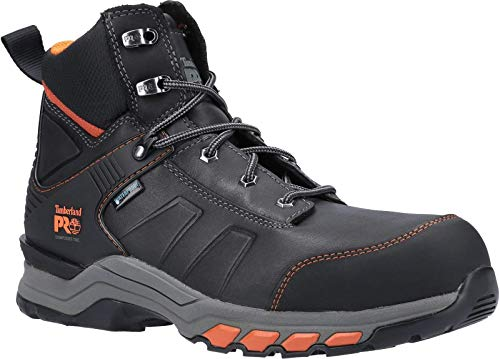 Timberland Pro Botas de seguridad con cordones de cuero Hypercharge para hombre, color Negro, talla 42 1/3 EU