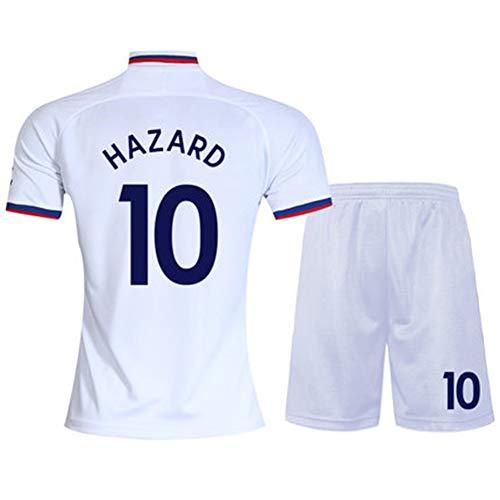19-20 Chelsea Trikot Nr. 10 Azar 7 Kanter Nr. 9 Morata Home Kurzarm Fußball Uniform Anzug Herren (Einheitsgröße -2XL) Gr. 110 cm, weiß