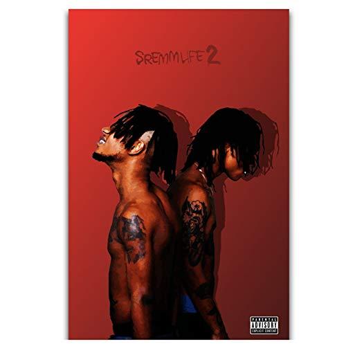 Sanwooden SremmLife 2 Rae Sremmurd Rap Hip Hop Musikgruppe Wandkunst Gemälde Druck auf Leinwand Album Cover Poster Wohnkultur -50x70cm Kein Rahmen