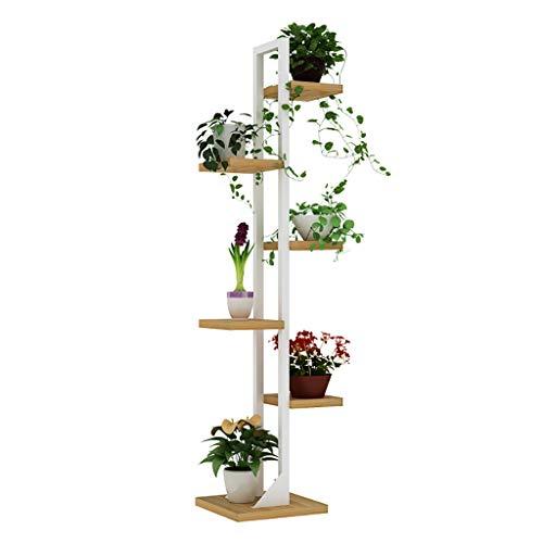 Support de fleur en métal Support de fleurs au sol 6ème fer à plusieurs couches d'intérieur Atterrissage Économie de l'espace Salon des étagères à fleurs (Couleur : A)