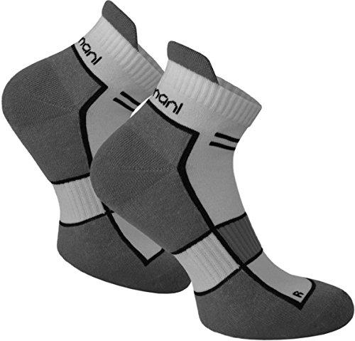 normani 2 Paar bis 10 Paar Sneaker Running Laufsocken Funktionssocken mit Frotteesohle und Stützfunktion Farbe Excalibur Größe 39/42-2 Paar