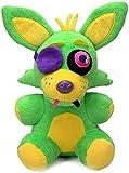 10'' FNAF Blacklight Neon Foxy Plush Toys - Blacklight Freddy | Five Nights Freddy's: Nightmare Fredbear Golden Freddy Fazbear Stuffed Toys Doll | Kids Doll, Gifts for FNAF Fan