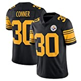 POAA Maillot de rugby James Conner 30# Pittsburgh Steelers pour homme Séchage rapide -  Jaune - Medium