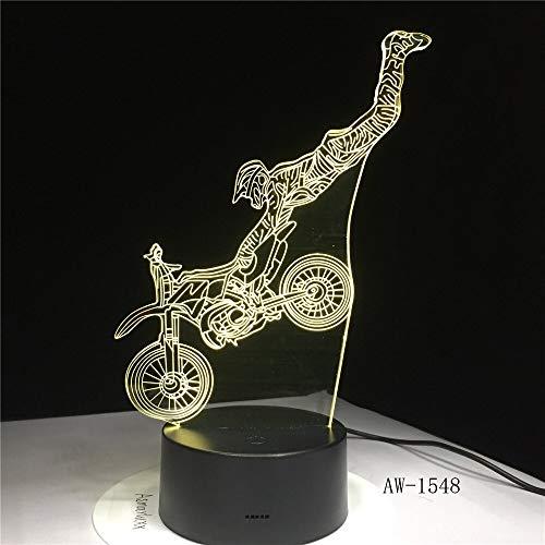 Fahrradförmige LED Nachtlicht Motorrad 3D Acryl LED Schreibtischlampe 7 Farben Nachtlicht Touch RC Light