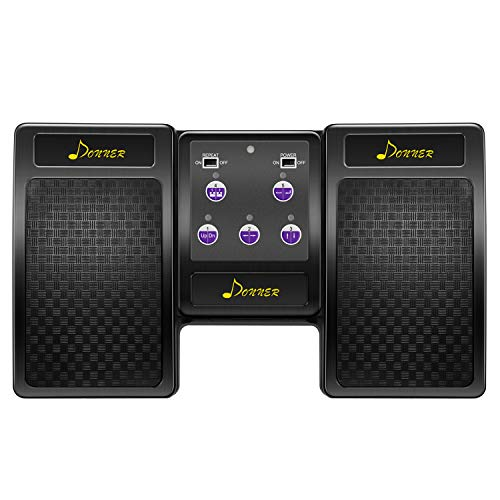Donner Pedal Página Bluetooth Recargable para Tablet iPad, Negro