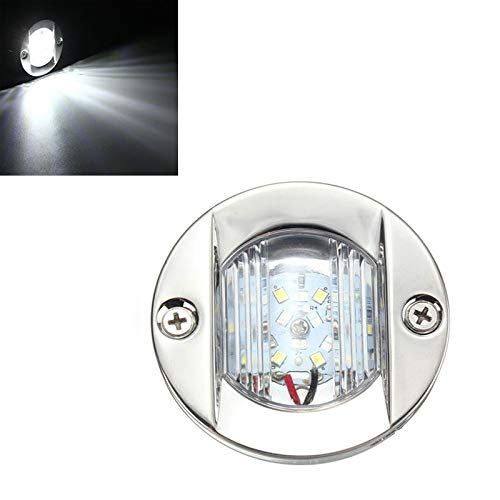 Fietslamp USB D2947 roestvrij staal 304 rond 12 V Yate Boot LED achterlicht