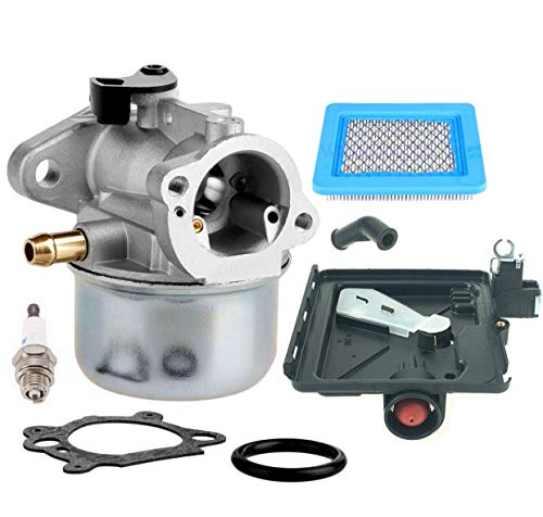 LEIMO 799868 Carburetor fits Briggs & Stratton 498170 799872 694202 497586 498254 790821 Carburetor - for Briggs & Stratton Carburetor 14111 +795259 Air Filter Cleaner Primer Base