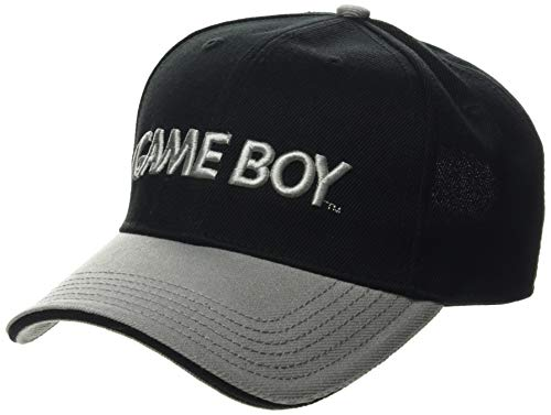 Bioworld EU Unisex Nintendo Gameboy Embroidered Logo Curved Bill Baseball Cap, Black/Grey (BA067775NTN) Baseballkappe, Grau (Grau Grau), One Size