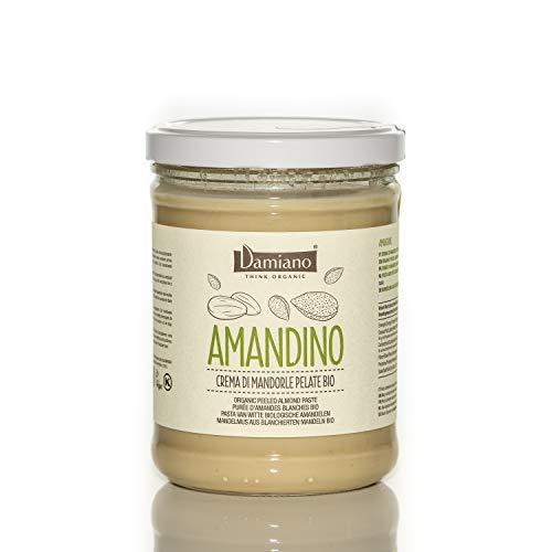Crema Spalmabile di Mandorle Pelate, 100% Biologiche - Senza Glutine e Vegan Friendly - Vaso da 750g