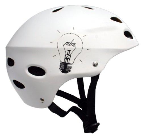 MBS Bright Idea Helmet (White, Small/Medium)