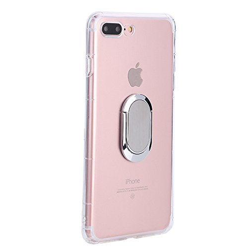 iPhone 7P Case / iPhone 7 Plus/ iPhone 8 Plus Case with 360 Rotating Ring Grip Holder Kickstand Function Magnetic Base, Ultra Slim Thin Hard Scrub Cover with Shockproof Protective for Soft TPU iPhone