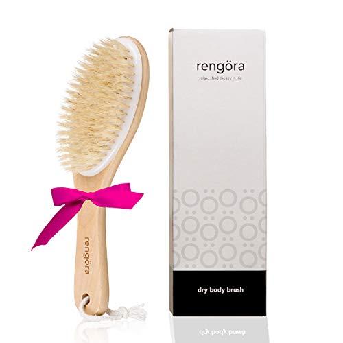 Brosse pour le corps a sec - Brosse cellulite - Brosse pour peau à sec - Obtenir une peau magnifique - pour le brossage à sec, exfoliation douce.