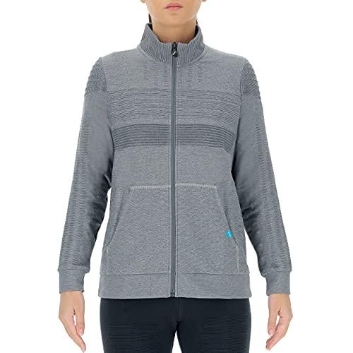 UYN Lady Natural Training OW Full Zip Shirt Long SL Chaqueta, Gris, Large para Mujer