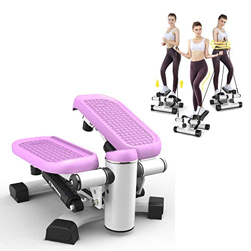 AUKLM Stepper,Stepper Exercise Machine Step Mini, Stepper Aerobic Motor Stomp Mountain Climbing Machine with Power Ropes for Home Fitness,1 PCS