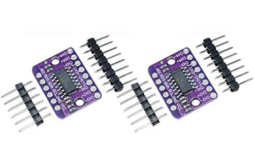 TECNOIOT 2 Stück MCP3424 Digitales I2C ADC-4-Kanal-Konvertierungsmodul 2.7V-5.5V Hohe Genauigkeit