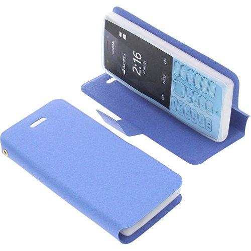 Tasche für Nokia 216 Book Style blau Schutz Hülle Buch