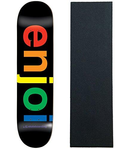 Enjoi Skateboard Deck Spectrum schwarz 21cm mit Griptape