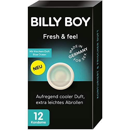 Billy Boy Fresh & Feel Kondome | aufregend cooler Duft | extra leichtes Abrollen | 12er Stück