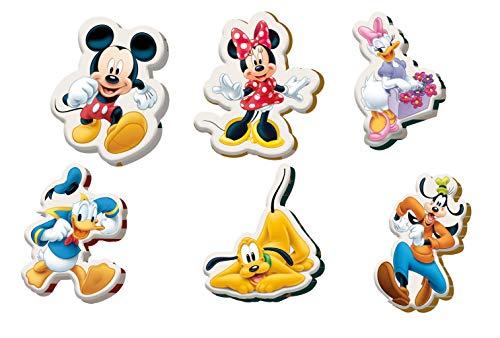 Kids Licensing   Mini Cojines Infantiles - Diseño Mickey Mouse - Diferentes Personajes - Personajes Disney - Material Ignífugo - Cojines Infantiles - Dimensiones 35 x 45 cm/ 10 x10 cm