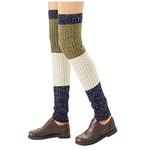 SUCES Winter Kniewärmer Stulpen für Outdoor Extra Lang Gestrickte Warmer Over-Knee Strumpf Beinstulpen Legwarmer für Damen Yoga Tanzen Socken Beinwärmer Kniestrümpfe Knieschone