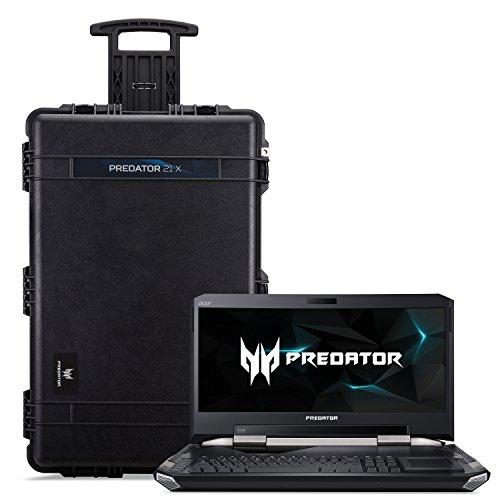 "Acer Predator 21 X Gaming Laptop, Intel Core i7, GeForce GTX 1080 SLI, 21"" Curved  2000R Full HD, 64GB DDR4, 1TB PCIe SSD, 1TB HDD, with 21X Protective Travel Case, GX21-71-76ZF"