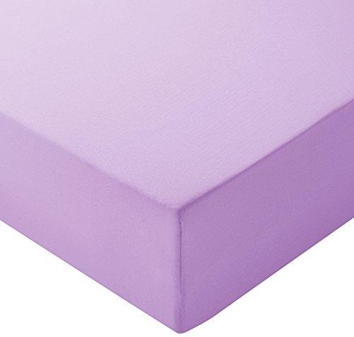 Amazon Basics Spannbetttuch, Mikrofaser, Lavendelfarben, 200x200x30cm
