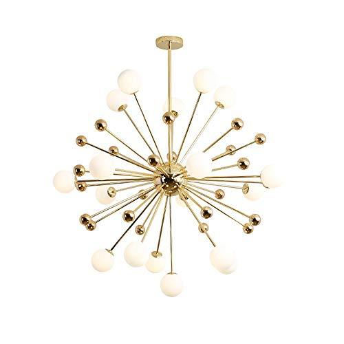 Boaber Satellite - Lámpara de techo moderna para lámpara de araña, colgante de techo, cristal de ópalo, lámpara de techo (11 luces)