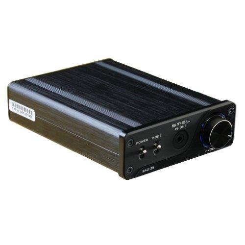 SMSL SAD-25 Digital Amplifier 2x25W + USB DAC + Headphone Amp + SMSL Power Adapter(14V 3.8A) - Black