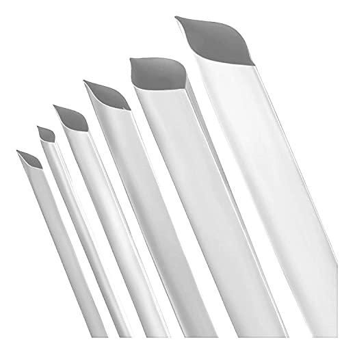 ISO-PROFI® Tubi Termorestringenti Bianco 2:1 - Variano da 10 diametri e 6 lunghezze (qui: Ø10mm - 1m)