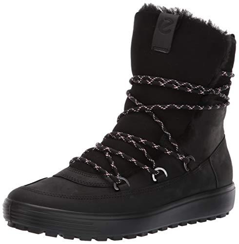 ECCO Damen Womens Soft 7 TRED Mid Hohe Stiefel, Schwarz (Black 51052), 38 EU