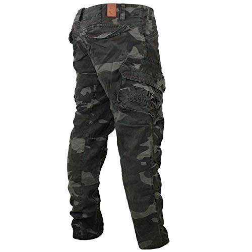 Yakuza Premium Herren Cargo Pants Hose 2666 schwarz camo Größe XL