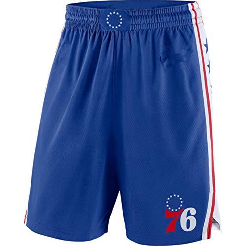 MZYW Pantalones cortos de entrenamiento para hombre Philadelphia Blue,76ers Declaración Swingman Pantalones cortos de baloncesto para hombres