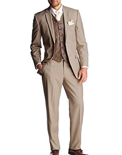 keskin collection Herren Anzug Beige Creme (44, beige)
