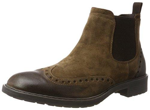 Geox Herren U KAPSIAN D Chelsea Boots, Braun (Ebony), 46 EU