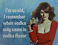 Only Came In Vodka ティンサイン ポスター ン サイン プレート ブリキ看板 ホーム バーために